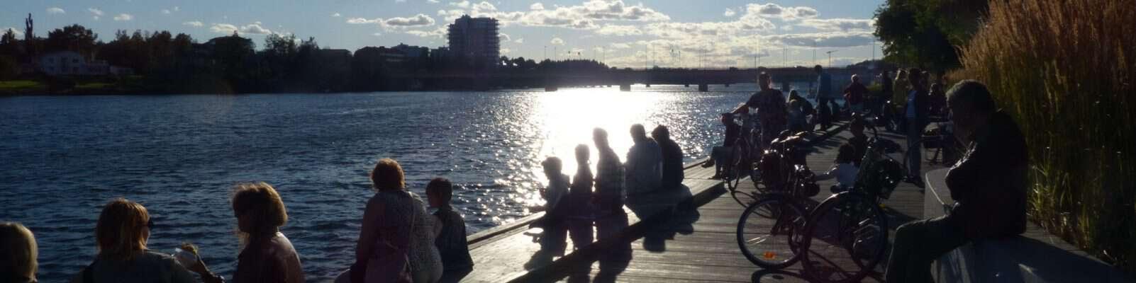 Open water-tävlingen mitt i Umeå